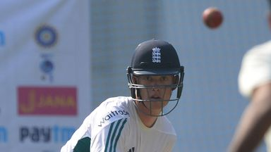 Keaton Jennings nets with England ahead of his possible Test debut in Mumbai (Credit: AFP)