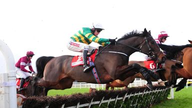 Landofhopeandglory pictured in action in the Bar One Racing Juvenile Hurdle