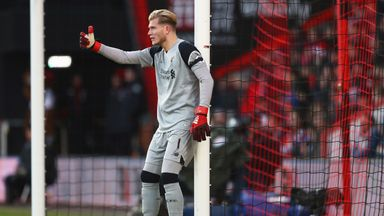 Loris Karius came under criticism after Liverpool lost to a late winner at Bournemouth