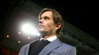 PSV boss Phillip Cocu looks on as his side win again