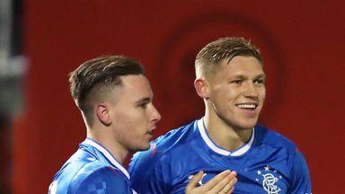 Rangers' Martyn Waghorn was on the scoresheet against Hamilton