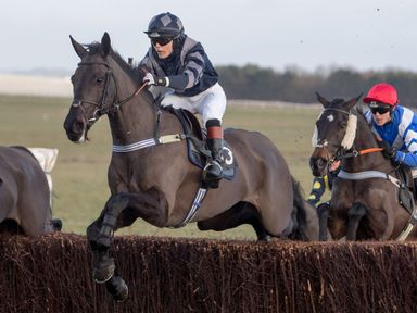 Victoria Pendleton riding her own horse Vesperal Dream at Larkhill