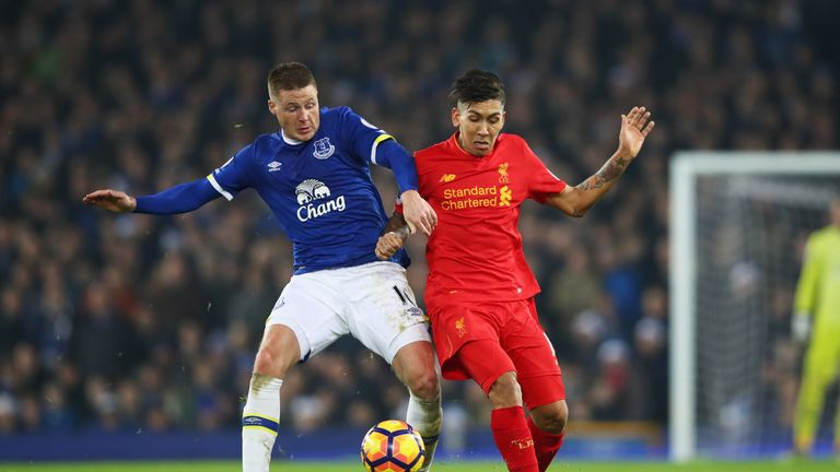 Injury forced James McCarthy off at half-time against Liverpool