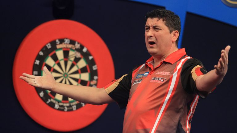 Mensur Suljovic: Through to the second round at the Alexandra Palace