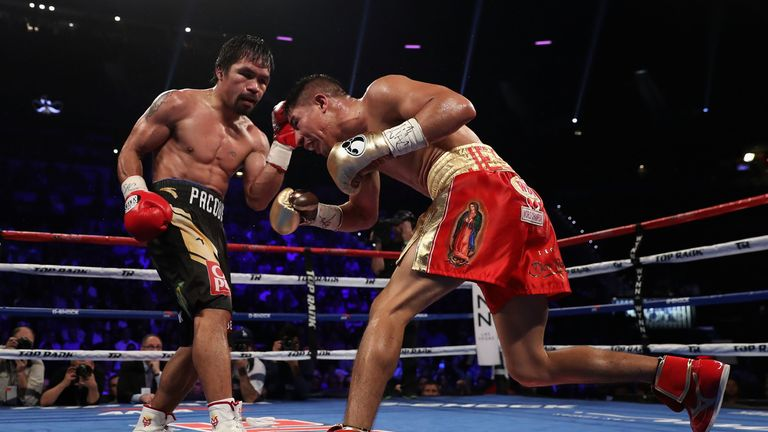 Pacquiao returned from a brief retirement to defeat Jessie Vargas and win the WBO welterweight title for a third in November