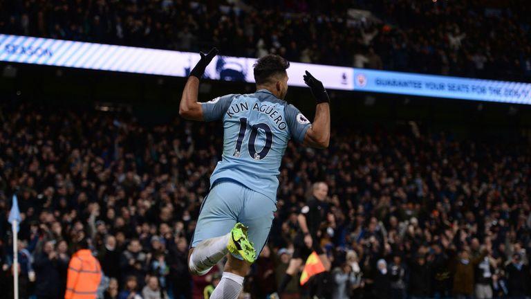 Sergio Aguero scored Man City's decisive second