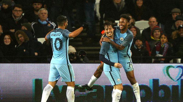 David Silva got City's third goal against West Ham
