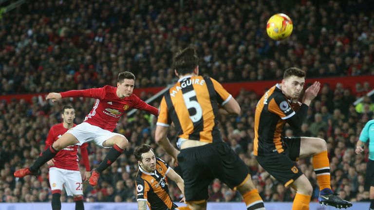 Ander Herrera has a go from distance for United