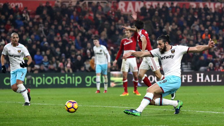 Andy Carroll latched onto a loose save from Victor Valdes to bag his second