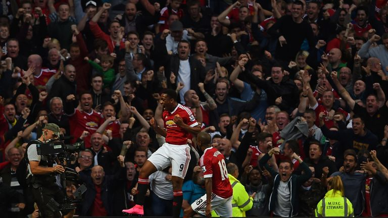 Anthony Martial endeared himself to United supporters with a stunning debut goal against Liverpool