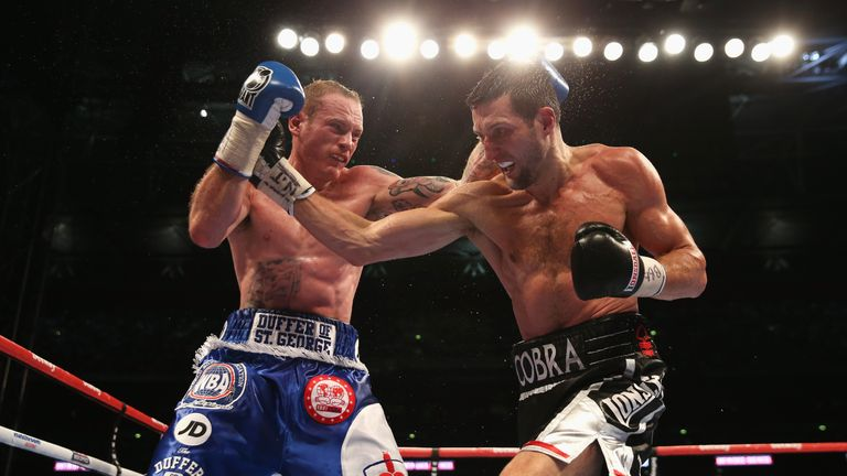 George Groves was twice stopped by Carl Froch