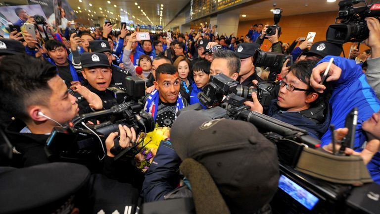 Carlos Tevez became the world's highest-earning player when he moved to Shanghai Shenhua