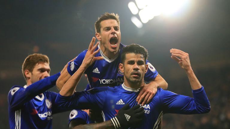 Costa has scored 17 Premier League goals this season