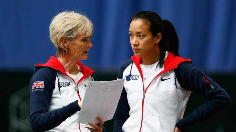 Judy Murray (L) resigned as GB Fed Cup captain in 2016, citing her frustration at the competition's format