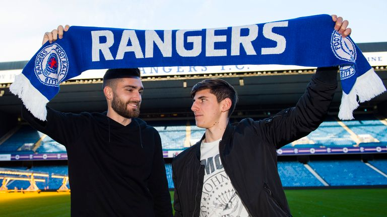 Rangers' two January arrivals - Jon Toral (L) and Hyndman