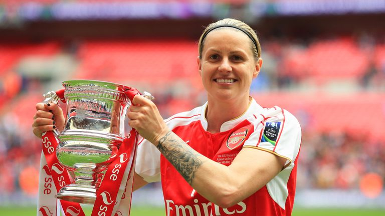 Kelly Smith won the FA Cup with Arsenal Ladies at Wembley Stadium last season