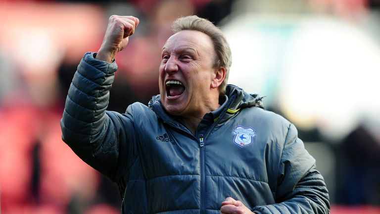 Neil Warnock has steered Cardiff to the top of the table