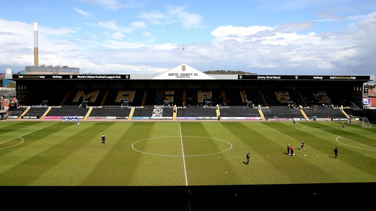 Notts County's Meadow Lane home