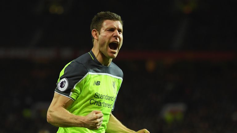 Milner has scored six goals in the Premier League this season