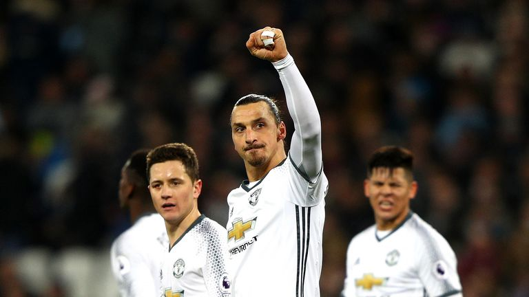 Zlatan Ibrahimovic has 13 Premier League goals in his debut season in English football