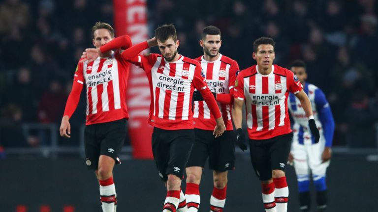 Davy Propper (C) scored PSV's opening goal