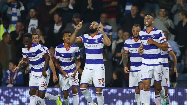 Sandro (centre) was plagued by injury during his time with QPR