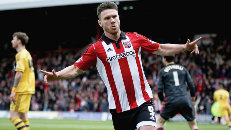Scott Hogan could be on his way to West Ham after the Hammers submitted a £12m offer to Brentford
