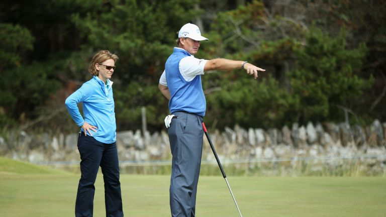Calder has worked with Ernie Els
