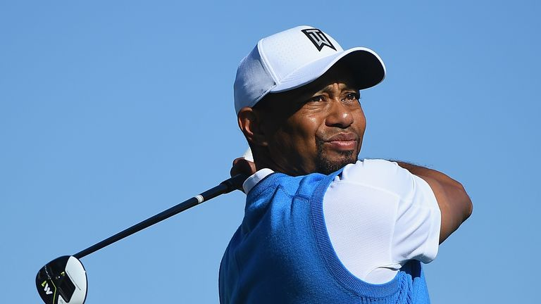Tiger Woods in action at the Farmers Insurance Open