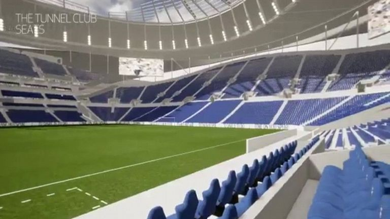 tottenham fans can splash out on tunnel view seats in new stadium football news sky sports. Black Bedroom Furniture Sets. Home Design Ideas