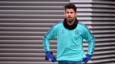 Diego Costa trained with the Chelsea first-team on Tuesday afternoon, Sky sources understand