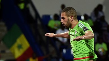 Islam Slimani scored twice, but could not stop Algeria from exiting the Africa Cup of Nations