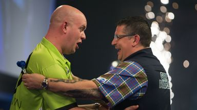 Michael van Gerwen and Gary Anderson will meet again on the Premier League's opening night after their World Championship showdown