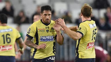 Stephen Brett (middle) kicked 13 points on his Clermont debut