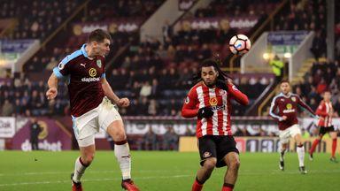 Sam Vokes opens the scoring for Burnley against Sunderland
