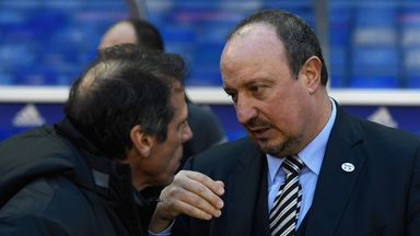 Newcastle boss Rafael Benitez (right): On the look out for more quality