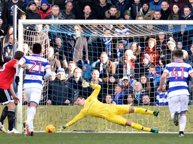 Alex Smithies saves Chris Martin's penalty