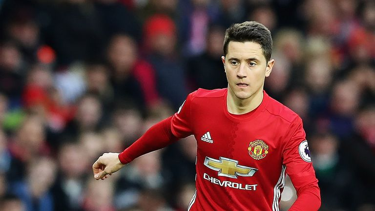 Ander Herrera  in action at Old Trafford in December