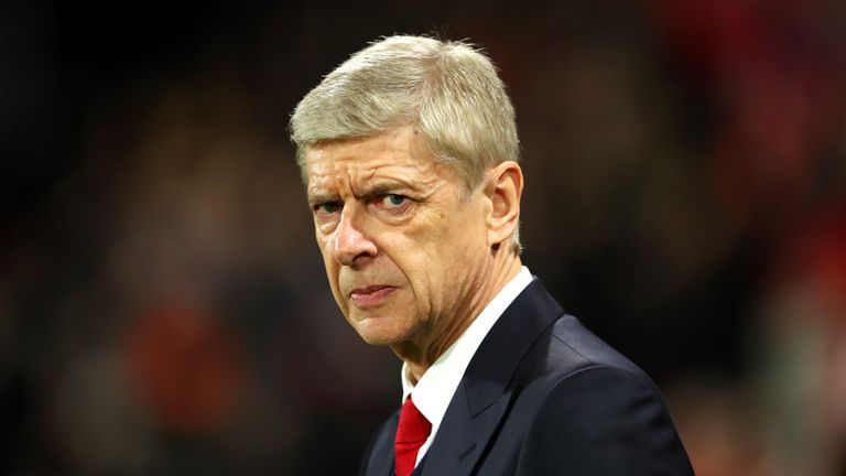 Arsene Wenger looks on from the touchline prior to the Premier League match between against Bournemouth