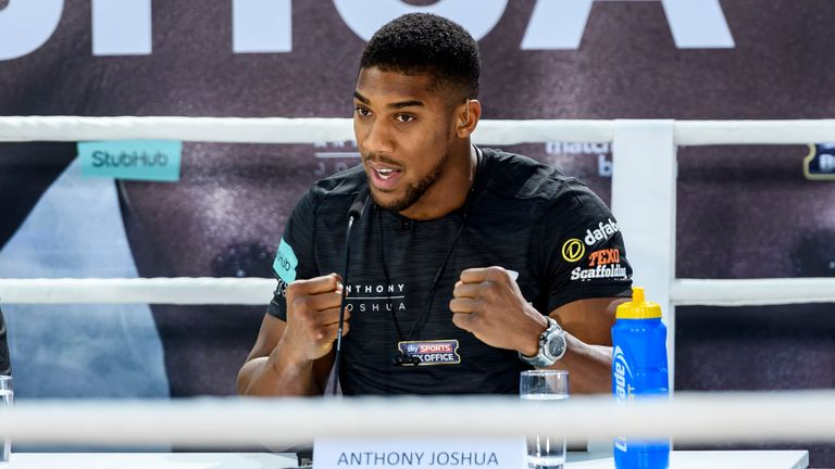 Joshua says it's an exciting time to be in boxing's heavyweight division
