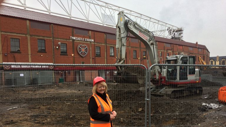 Budge is thrilled with the new stadium developments at Hearts