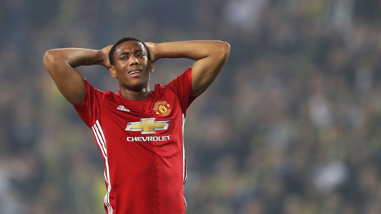 Martial has struggled to produce his best form this season