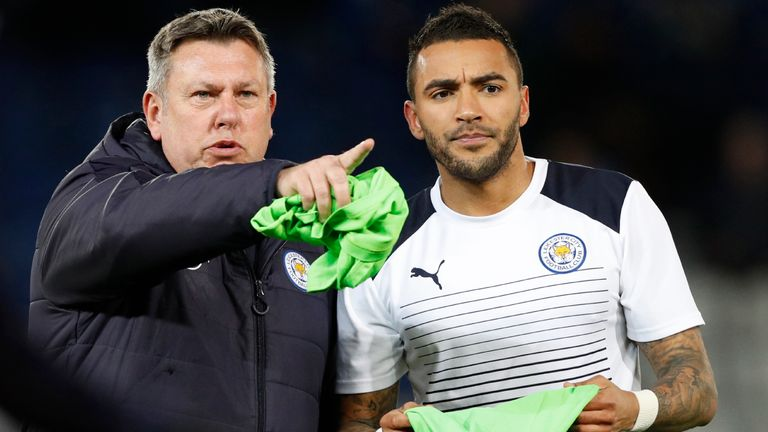 Leicester City manager Craig Shakespeare with Danny Simpson