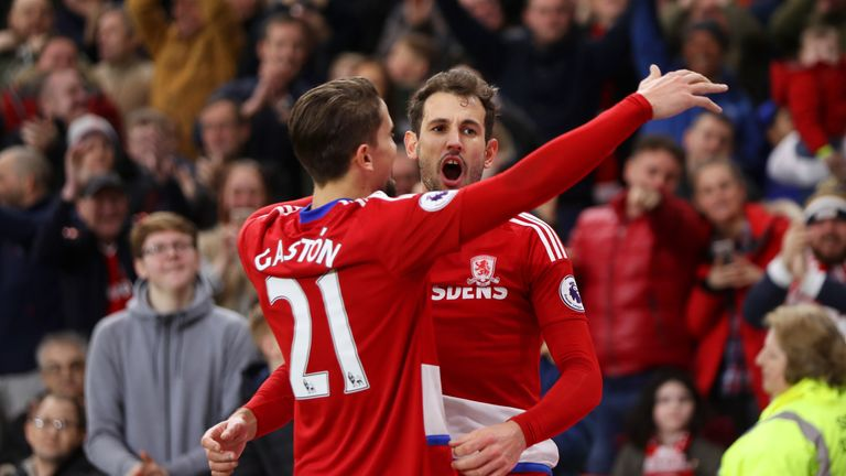 Christian Stuani scored late on for Middlesbrough to see them into the FA Cup round quarter-finals