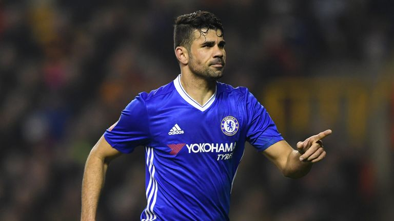 Chelsea's main man Diego Costa scored the second for the visitors