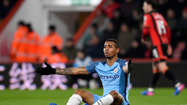 Gabriel Jesus took Aguero's place in the team