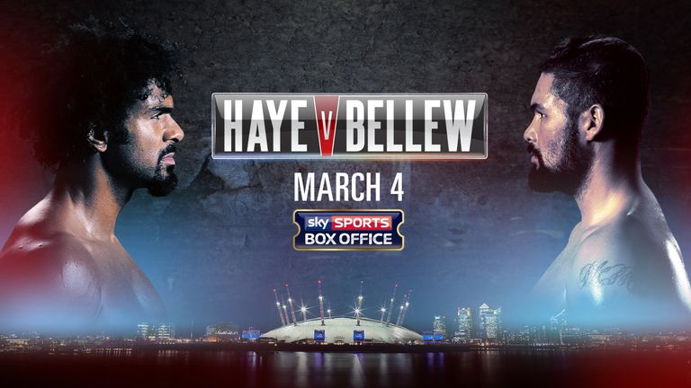 David Haye vs Tony Bellew, Sky Sports Box Office, March 4