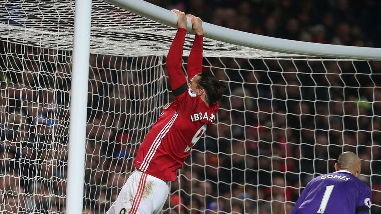 Ibrahimovic was disappointed not to score against Watford on Saturday