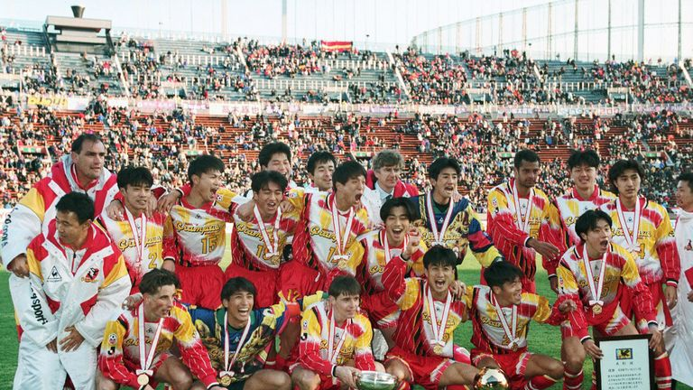 Wenger spent a season managing in Japan with Nagoya Grampus Eight