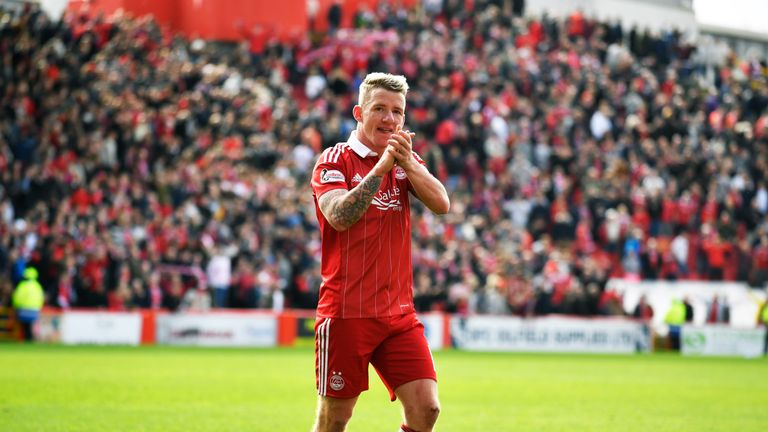 Jonny Hayes netted in the second half for Aberdeen